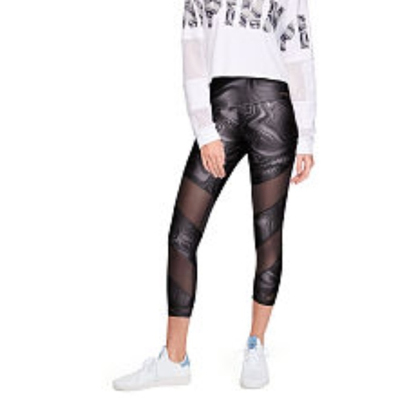 Medium VS Pink Victoria/'s Secret Pink Ultimate High Waist Crop Legging Blue New NWT